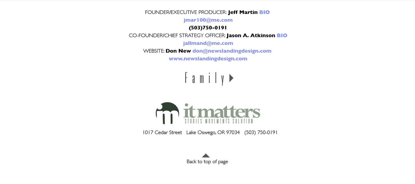It Matters Home Page Images